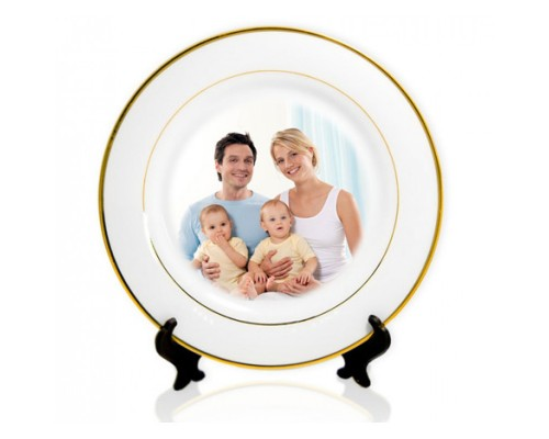 Тарелка с фотографией